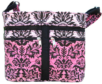 Pink Damask Handbag at Dolly Outfitters