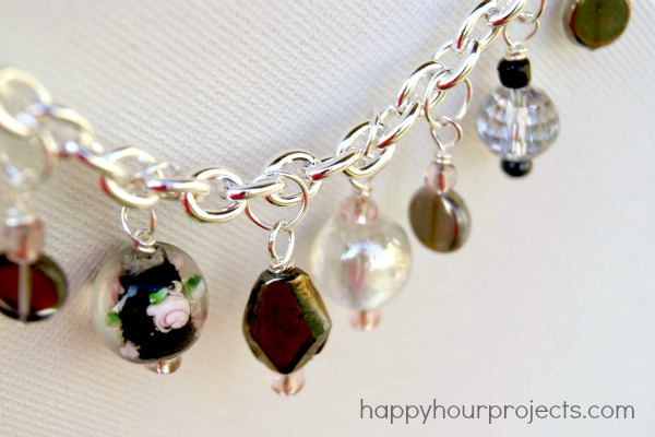 Classic Bead Charm Bracelet at happyhourprojects.com
