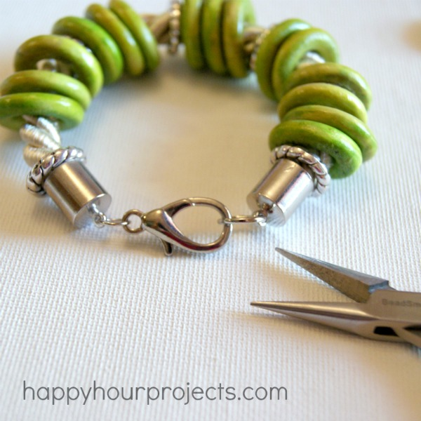 Ring Bead Bracelet Tutorial at www.happyhourprojects.com