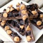 Chocolate Peanut Butter Oreo Bark