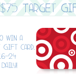 Enter to win a $75 Target Gift Card!
