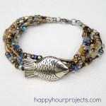 Layered Hemp Beaded Bracelet at www.happyhourprojects.com