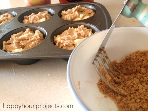 Apple Streusel Muffins at www.happyhourprojects.com