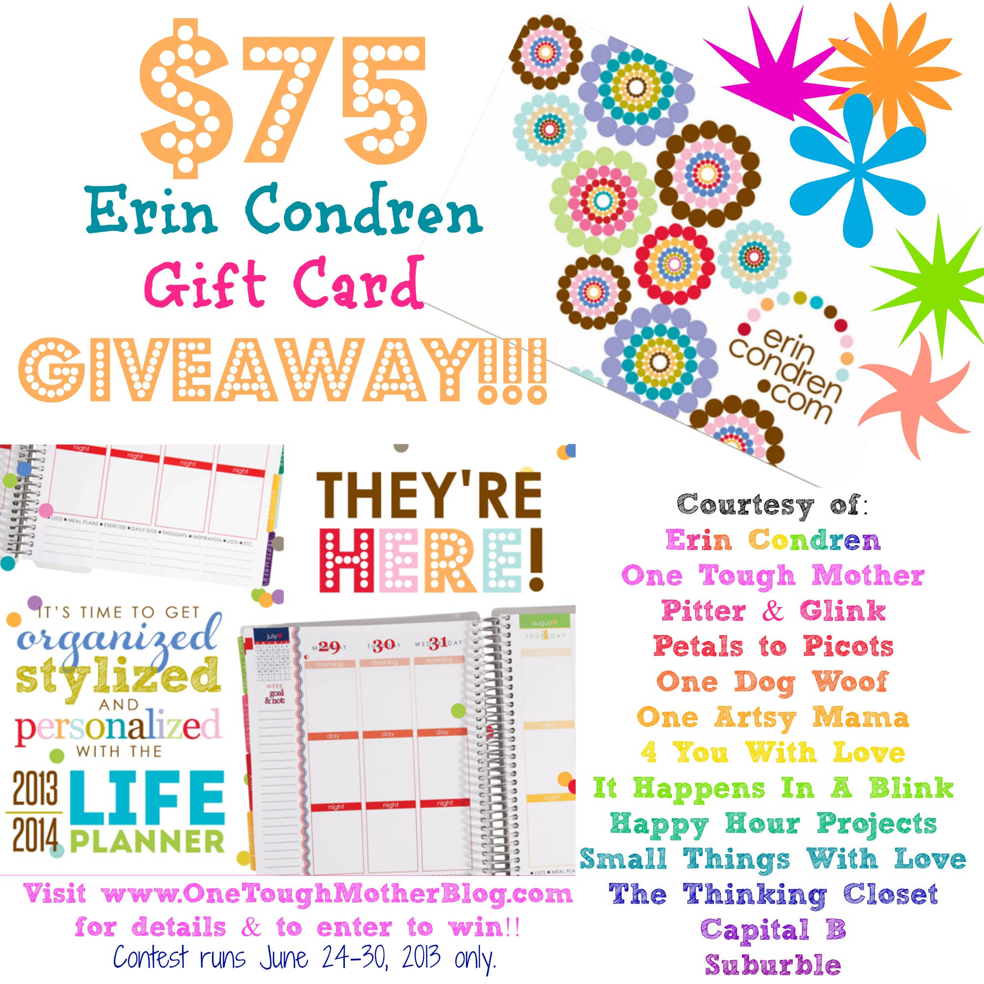 Erin Condren Gift Card Giveaway at www.happyhourprojects.com