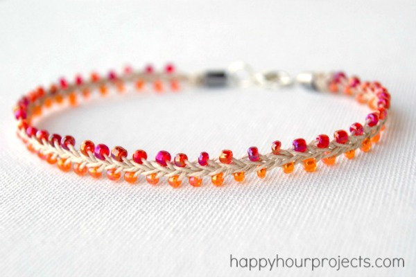 Beaded hemp ankle bracelet happy hour projects bead and hemp ankle bracelet at happyhourprojects fandeluxe Images