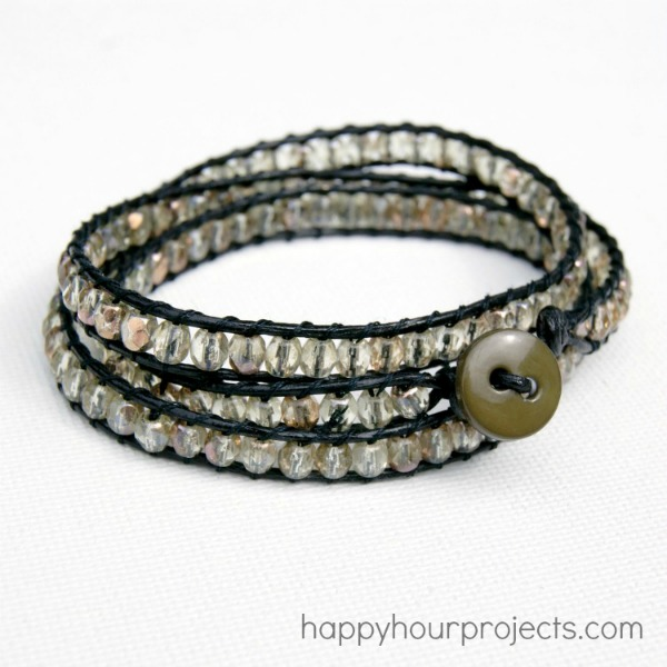 DIY Crystal Wrap Bracelet