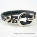 Five Minute Leather Bracelet