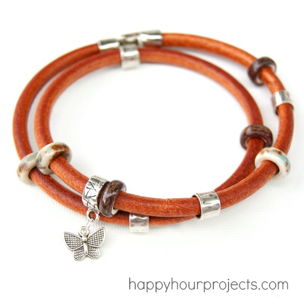 Quick and Easy Leather Wrap Bracelet