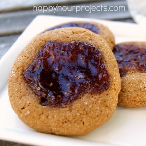 Raspberry Molasses Cookies at www.happyhourprojects.com