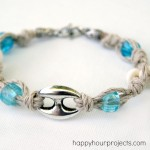 Knotted Hemp Bracelet at www.happyhourprojects.com