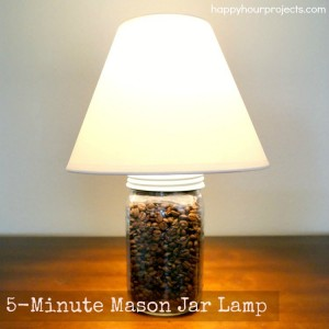 DIY Mason Jar Lamp at www.happyhourprojects.com