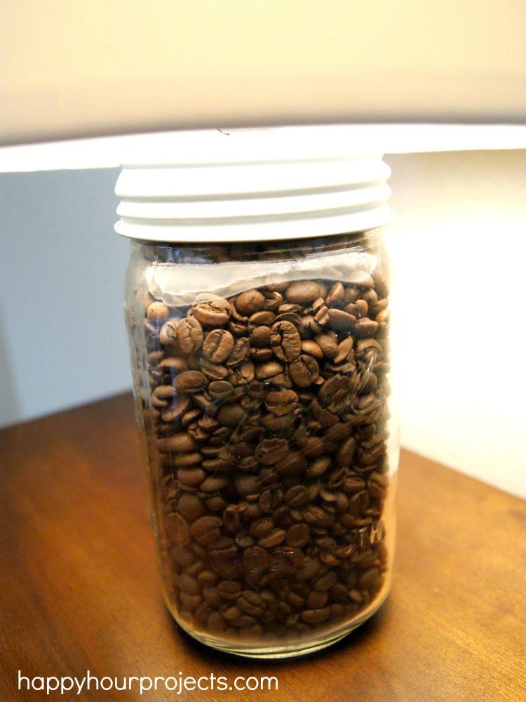Diy Mason Jar Lamp Aka The Coffee Bean Lamp Happy Hour