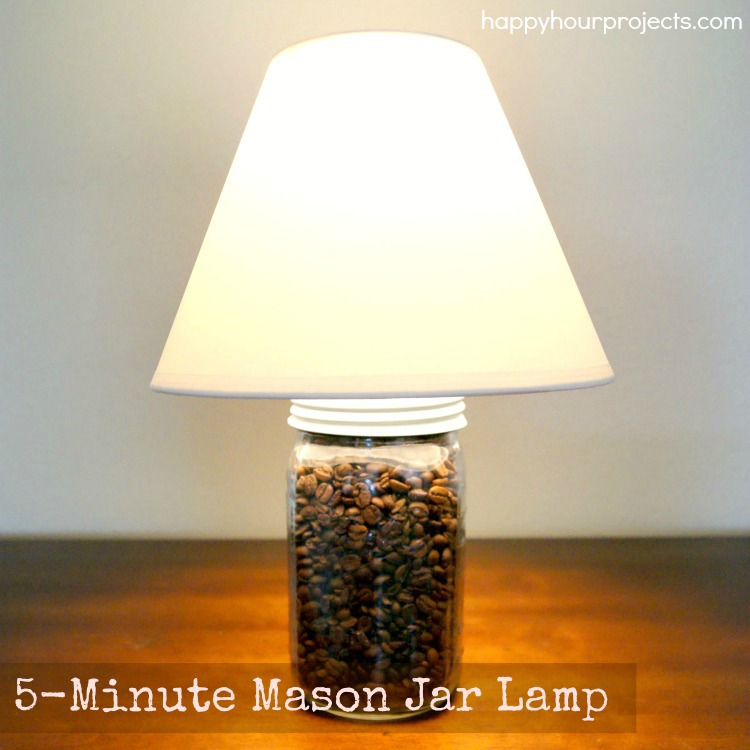 Diy Mason Jar Lamp At Www Hyhourprojects