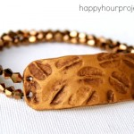 Stamped Polymer Clay Bracelets at www.happyhourprojects.com