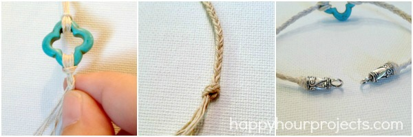 10-Minute Hemp Bracelet at www.happyhourprojects.com