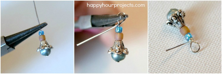 Painted Anchor Glass Tile Necklace at www.happyhourojects.com