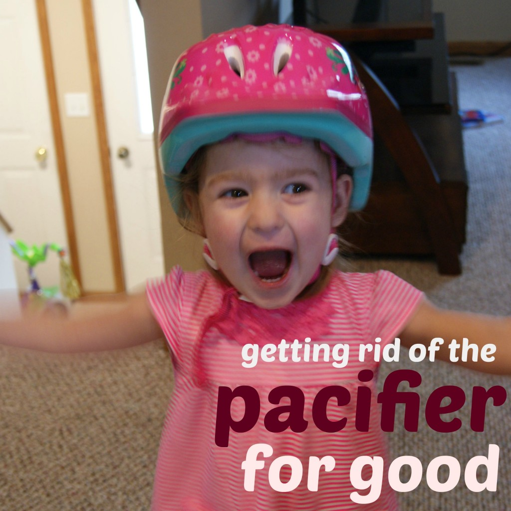 Getting Rid of the Pacifier For Good at www.happyhourprojects.com