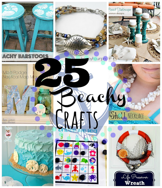 25 Beach-Inspired Crafts and Projects at www.happyhourprojects.com