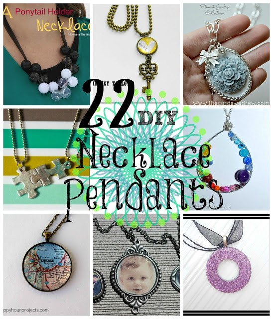 22 DIY Necklace Projects at www.happyhourprojects.com