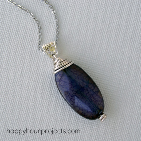 Wire wrapped pendant for beginners happy hour projects wire wrapped pendant tutorial for beginners at happyhourprojects aloadofball