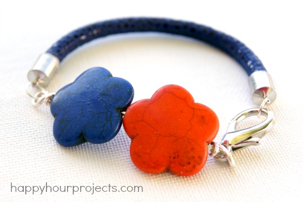 Simple Statement Bracelet Tutorial at www.happyhourprojects.com