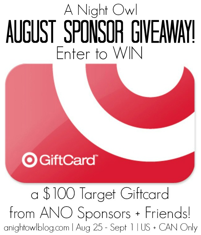 $100 Target Card Giveaway at www.happyhourprojects.com