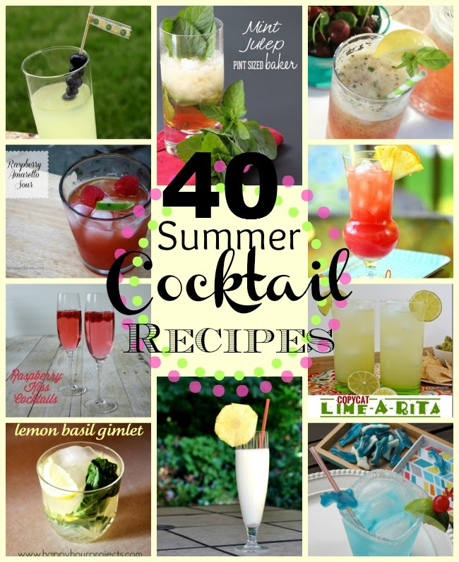 40 Cocktail Recipes at www.happyhourprojects.com