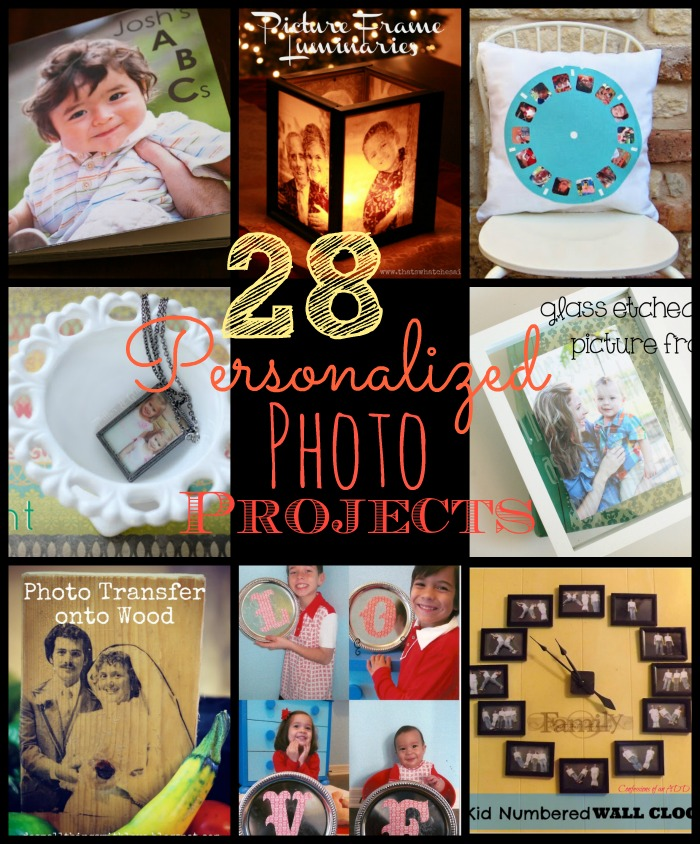 28 Personalized Photo Gift Ideas at www.happyhourprojects.com