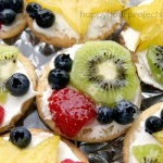 Mini Fruit Pizza at www.happyhourprojects.com