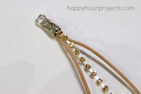 Rhinestone Wrap Bracelet Tutorial at www.happyhourprojects.com