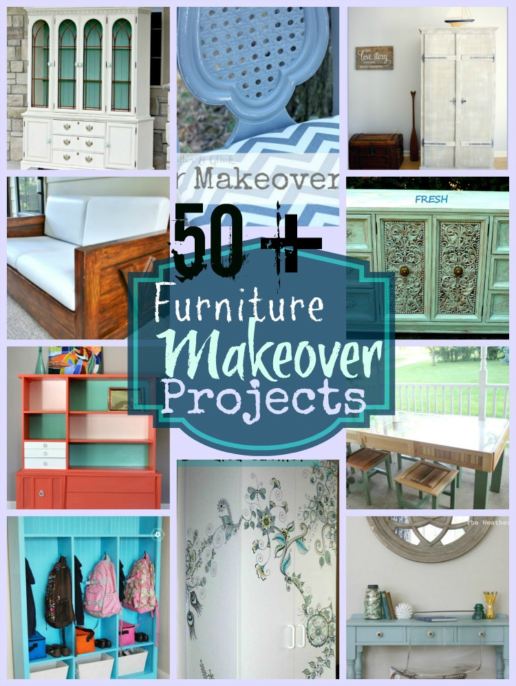 50 Furniture Makeovers at www.happyhourprojects.com