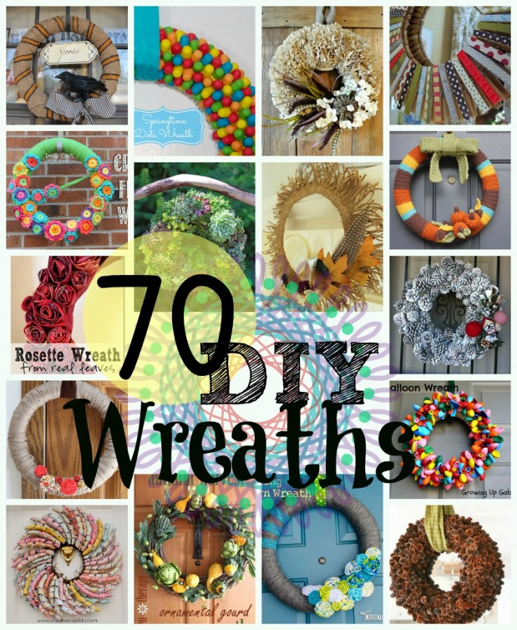 70 DIY Wreaths at www.happyhourprojects.com