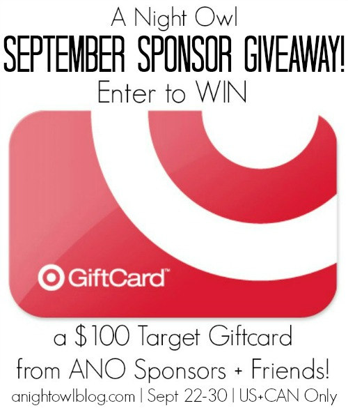 $100 Target Gift Card Giveaway at www.happyhourprojects.com