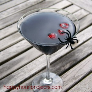 Black Widow #Halloween Martini at www.happyhourprojects.com