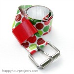 Duck Tape Belt Tutorial at www.happyhourprojects.com