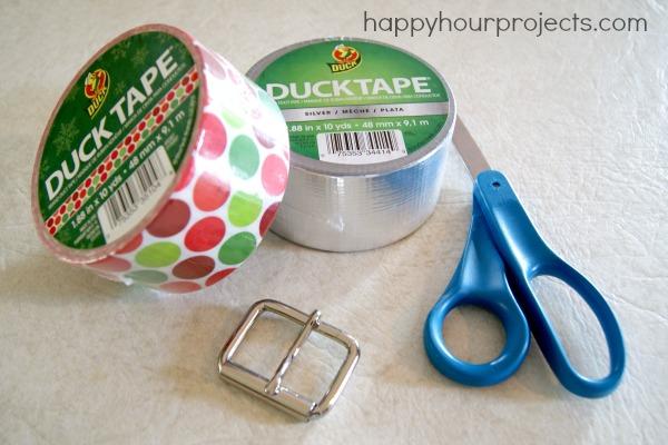 Duck Tape Belt Tutorial at www.happyhourprojects.com