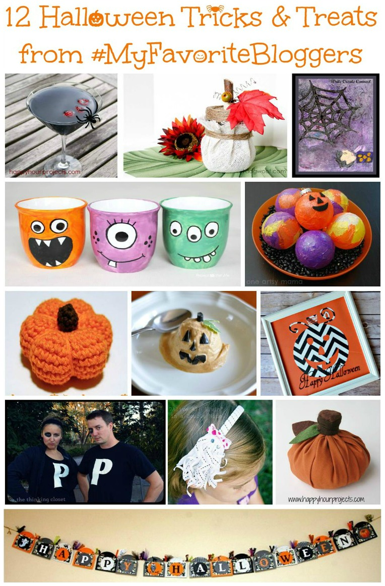 12 Tricks and Treats: Creative Halloween Projects Free E-Book at www.happyhourprojects.com
