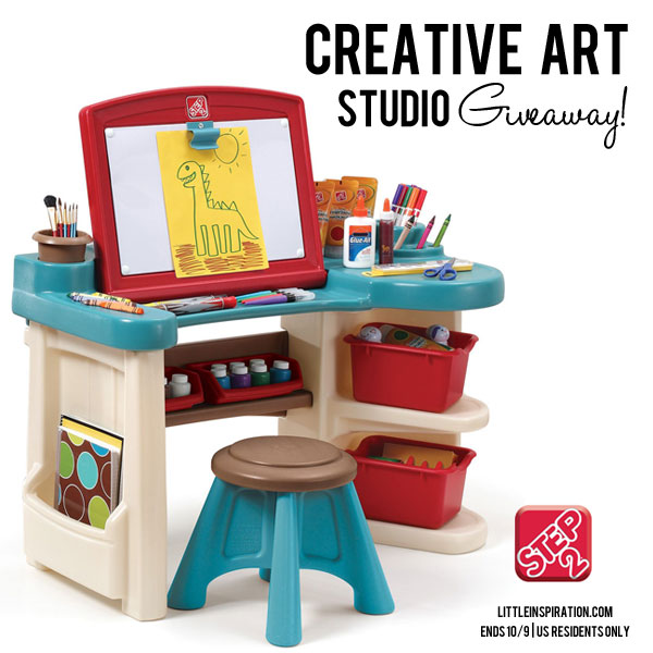 Step2 Creative Art Studio Giveaway through October 9 at www.happyhourprojects.com