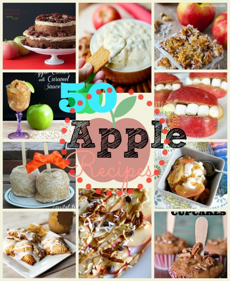 50 Apple Recipes at www.happyhourprojects.com