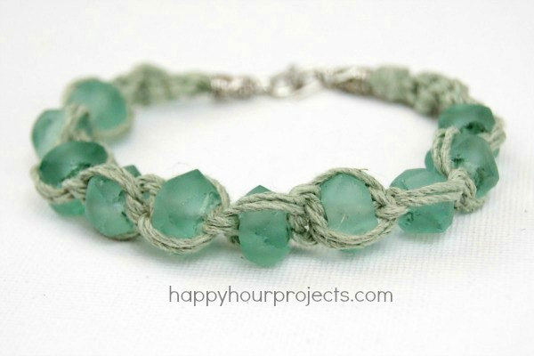 Gl Bead Macrame Bracelet Hy Hour Projects