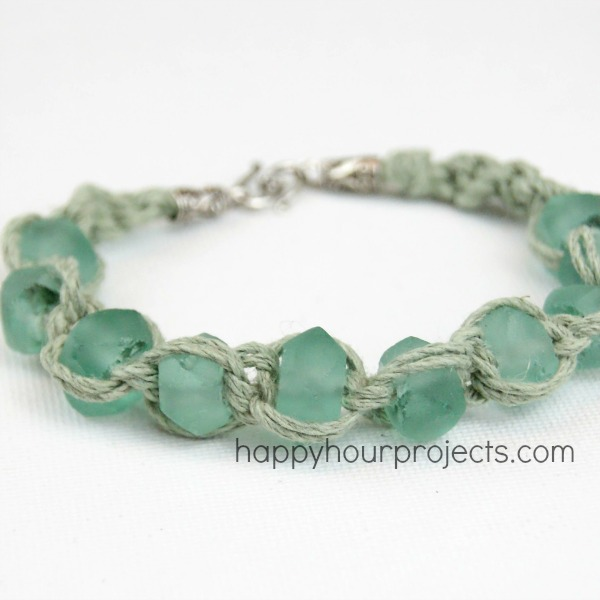Glass Bead Macrame Bracelet Happy Hour Projects