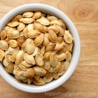 How To Toast Pumpkin Seeds at www.happyhourprojects.com