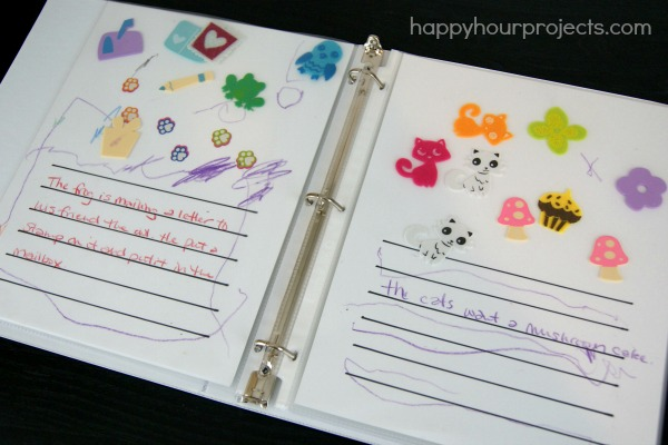 Sticker Stories with PomTree Kids at www.happyhourprojects.com