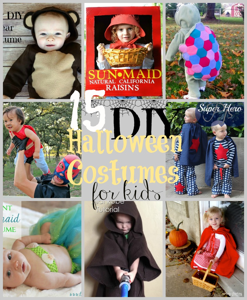 15 DIY Kids Halloween Costumes at www.happyhourprojects.com