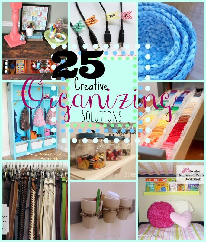 25 Creative Organization Solutions at www.happyhourprojects.com