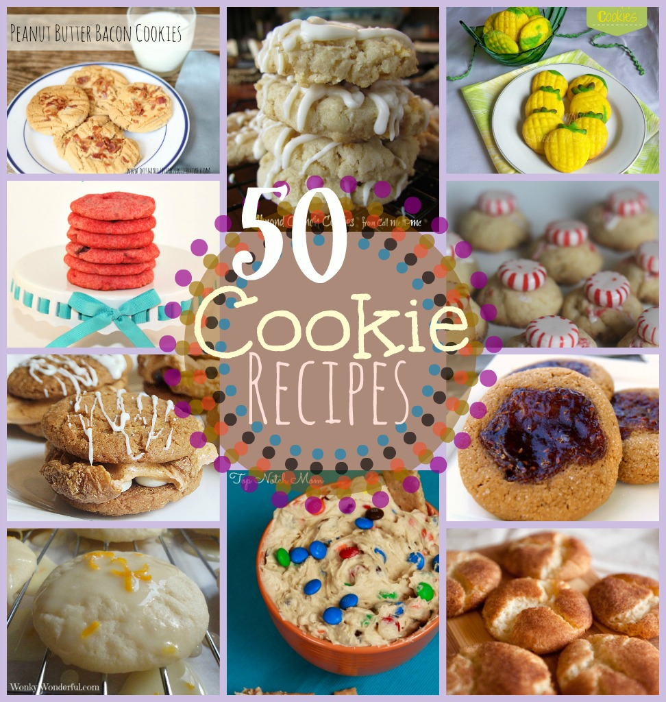 50 Cookie Recipes at www.happyhourprojects.com