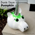 Duck Tape Pumpkin Unicorn at www.happyhourprojects.com