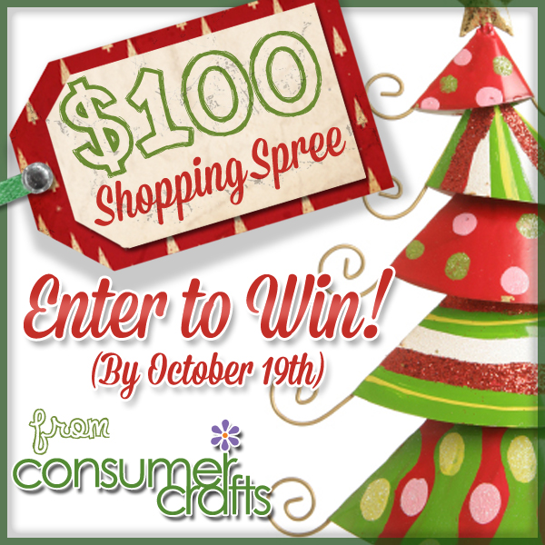 Win a Holiday Shopping Spree from Consumer Crafts and Happy Hour Projects!