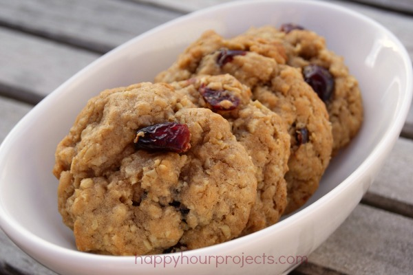 Holiday Baking Cranberry Walnut Oatmeal Cookies
