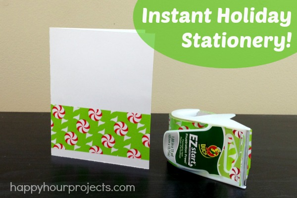 Instant Holiday Stationery at www.happyhourprojects.com #EZstart